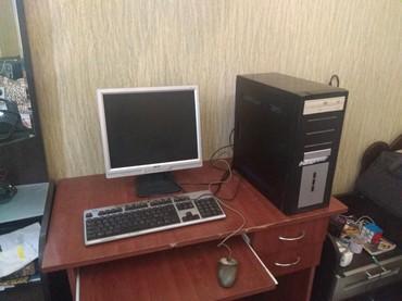 Stolüstü kompüterlər və PK Azərbaycanda: Ideal veziyyetde komputer  Ddr 2  Miska  Klavatura  17lik monitor  Yen