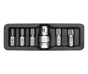 Htc one m8 16gb glacial silver - Srbija: Spline ključevi set M5-M12, 6 komada Set nastavaka sa Spline