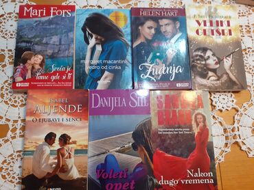 Komplet 7 romana- nekorišćene knjige