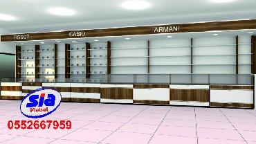 konteynerdən mağaza - Azərbaycan: Mağaza vitrinlərin yığılması