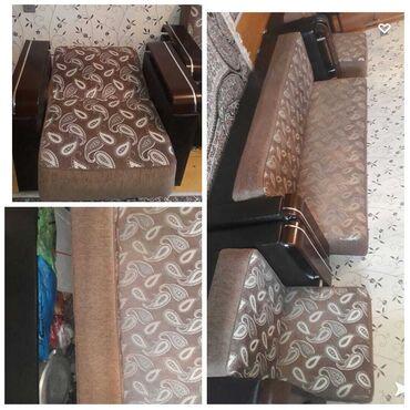 диван и 2 кресла в Азербайджан: 2 kreslo 1 divan kreslolar ela veziyyetdedi divan iwlenib amma cox