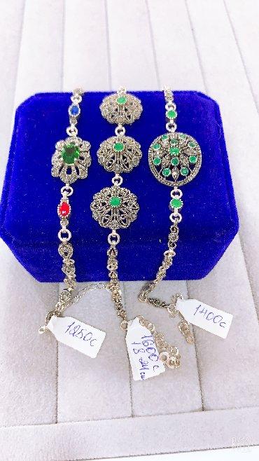 Браслеты - Кыргызстан: Новые серебряные браслеты из Изумрудов ( Циркониевые ) Самый лучший