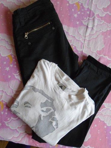 Moderne crne farmerke uz nogu, crocodile jeans, veličine 29 l 34. - Belgrade