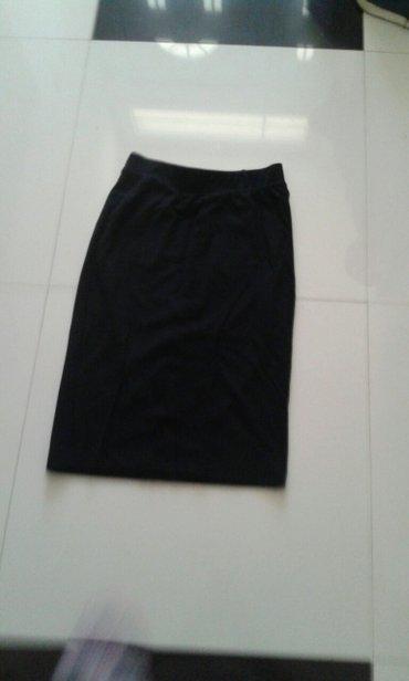 Suknja crna pozadi dzepovi novo pamuk elastin novo dostupna u svim - Backa Palanka