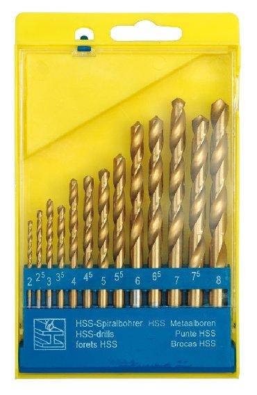Strug za metal - Srbija: Burgija zute titan za metal HSS 2-8 mm  13 Komada  2,0; 2,5; 3,0; 3,5;