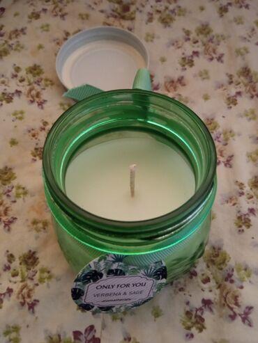 Свечи - Кыргызстан: Ароматизированные свечи! Продаю банку аромасвечу, освежающий запах
