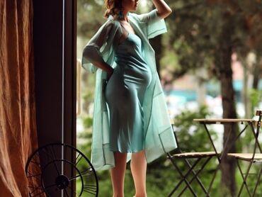 шикарные платья для полных в Кыргызстан: Шикарная накидка из органзы+комбинация сшитые на заказ Комбинация