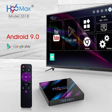 android tv в Азербайджан: Smart Tv Box H96Max  Android 9.0  Youtube, Netflix, playmarket dəstək