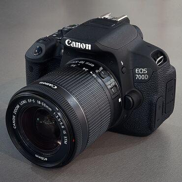 Canon 700D kit 18 - 55 mmСостояние хорошее + зарядка батарейка