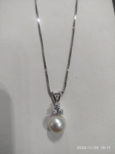 Цепочки из белого золота с бриллиантами проба 585