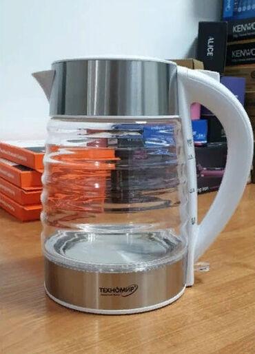 Электро чайник Техномир  Корпус:стекло Мощность:2200 Ватт  Объем:1.8 Л