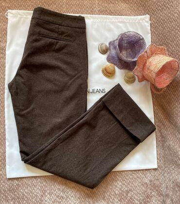 Zenske pantalone broj - Srbija: Vrhunske HUGO BOSS zenske deblje pantalone braon boje, velicina