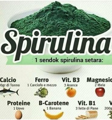 Spirulina. Tərkibi insan orqanizmi üçün gərəkli olan makro mikro