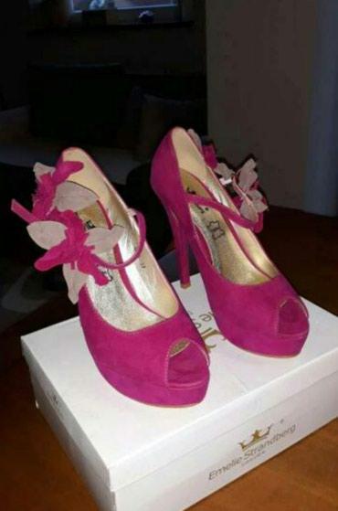 Nove!!! elegantne pink-bez sandale od izvrnute koze ...br 37 - Vranje