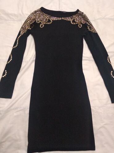 Бюстгальтер со стразами - Кыргызстан: Чёрное платье украшенное стразами спереди и сзади,а также по