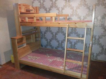 Продаю 2-х ярусную деревянную кровать . в Бишкек