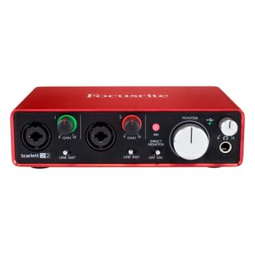Rode NT-1A Mikrofon Komplekti + Focusrite 2i2 2nd gen iki giriśli +