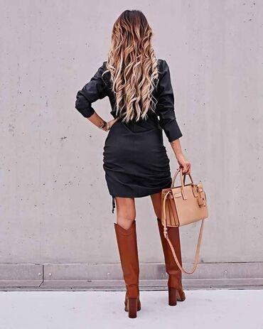 Prelepe kožne haljine u raznim bojama 2300