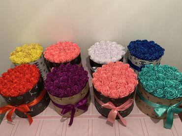 Розы из ленты  Цена по 1500сомов Доставка по городу 100сом