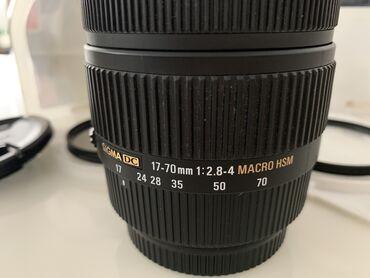 sumku dc meilun в Кыргызстан: Sigma DC Объектив 17-70mm F2.8-4, MACRO HSM Состояние идеальное