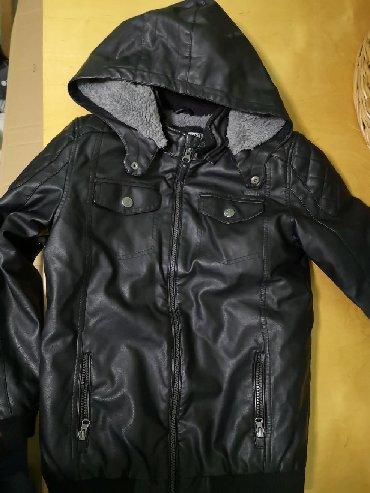 Kozna-jakana - Srbija: Waikiki jakna kozna postavljena, topla, kao nova, 10-11 god