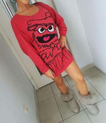 Prelep džemper, tanja trikotažaDIVAN model i kvalitetMalo nošenVel