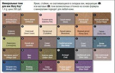 Все цвета в наличии Тени Мэри Кей в Бишкек
