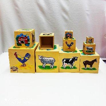 Неповторимый деревянный кубик - матрёшка!!⠀По всем сторонам нарисованы