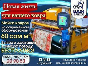 работа-бишкек-ежедневная-оплата в Кыргызстан: Стирка ковров и паласов!! Работаем без выходных и любую погоду. По го