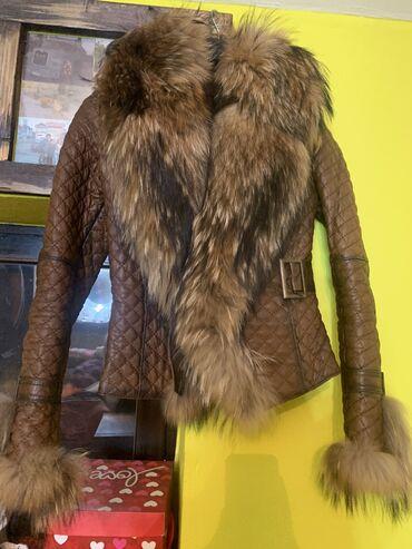 Kozna jakna sa prirodnim krznom Kao nova