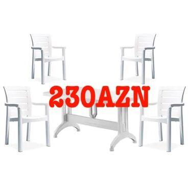 Bağ mebeli - Azərbaycan: Masa 90azn stullar 35azn