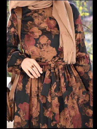 длинное платье с цветочным принтом в Кыргызстан: Платье в пол. Мусульманское платье. 44-46 р подойдёт надо мерить.  С