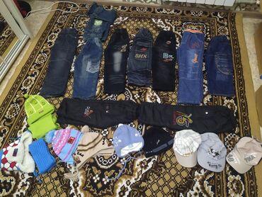 Детские штанишки, джинсы с навесом от 4-6лет. Бу, но состояние нового