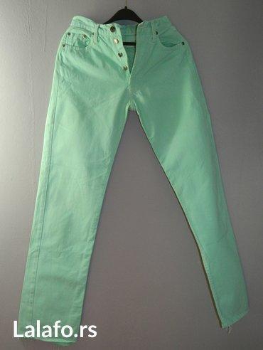 GAS retro zelene pantalone, duboki struk, vel. 29 - Sabac