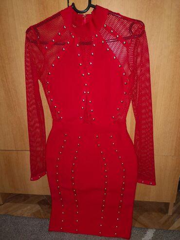 Duks haljina - Crvenka: Haljina nova ne koriscena Herve Leger, velicina m