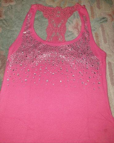 Atlet majice - Srbija: Roze majica sa cirkonima . Elegantna, atlet model, na bretele. Sa