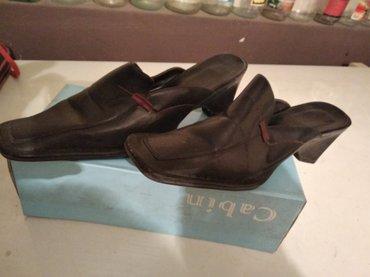 Papuce  br 37  d u gaz. 23-24 cm, elegantne lakovane sa stiklom, - Pancevo