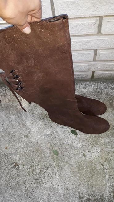 Italijanske cizme br - Srbija: Kozne cizme preko kolena u broju 38,5. poznate italijanske firme