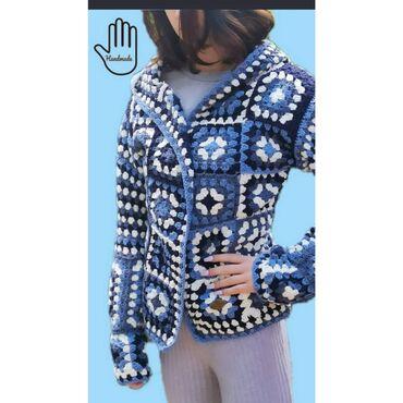 10102 oglasa | ŽENSKA ODEĆA: Končana heklana jakna, ručni rad. Pamuk. Veličina univerzalna