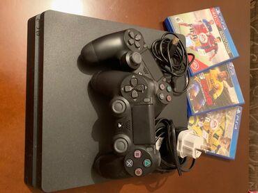 PS4 Slim 500 GB. 2 Aydı alınıb.iwimle elaqedar istifade ede
