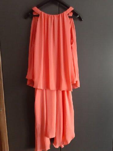 Koje-blago-presijavaju-marke-mos-mosh - Srbija: Sisley haljina, blago narandzaste boje Jednom obučena Veličina S, mode