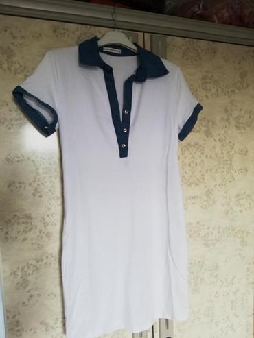 Nova bela polo haljina/tunika. Puna elastina. - Pancevo