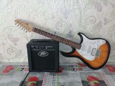гаммы для электрогитары в Кыргызстан: В комплекте с гитарой_комбик Peavey Backstage; кабель ; чехол для элек