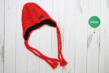 Дитяча в'язана шапка на зав'язках Bula Polartec    Довжина: 27 см Напі