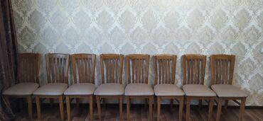 стол и стулья для гостиной в Кыргызстан: Продаю комплект стол(1.10*2.50)+стулья(8 шт) дорогой комплектв