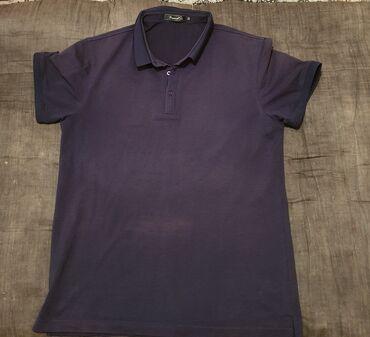 Личные вещи - Арчалы: Мужское поло темно-синего цвета, размер М. Цена 200 сом