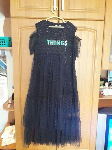 Личные вещи - Байтик: Шикарное фирменное платье на девочку рост 164 темно синего цвета
