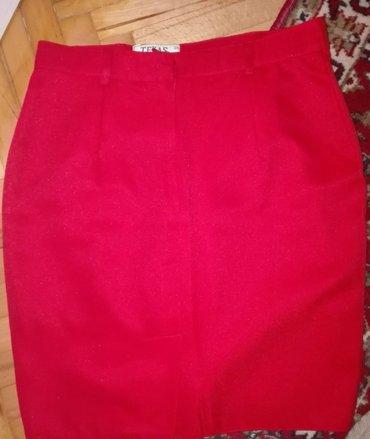 Suknja-svilena-broj - Srbija: Nenosena crvena suknja,broj 38