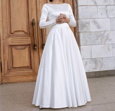 Свадебные платья и аксессуары - Кыргызстан: Свадебное дизайнерское платье «Богемная Италия»-ткань «Скарлет»-рукава