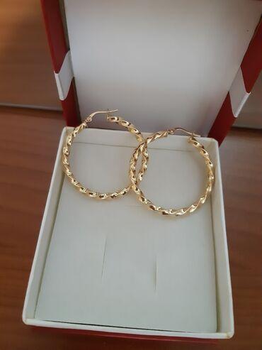 Красивые золотые серьги- кольца, золото 585пр, 3гр Цена окончательная